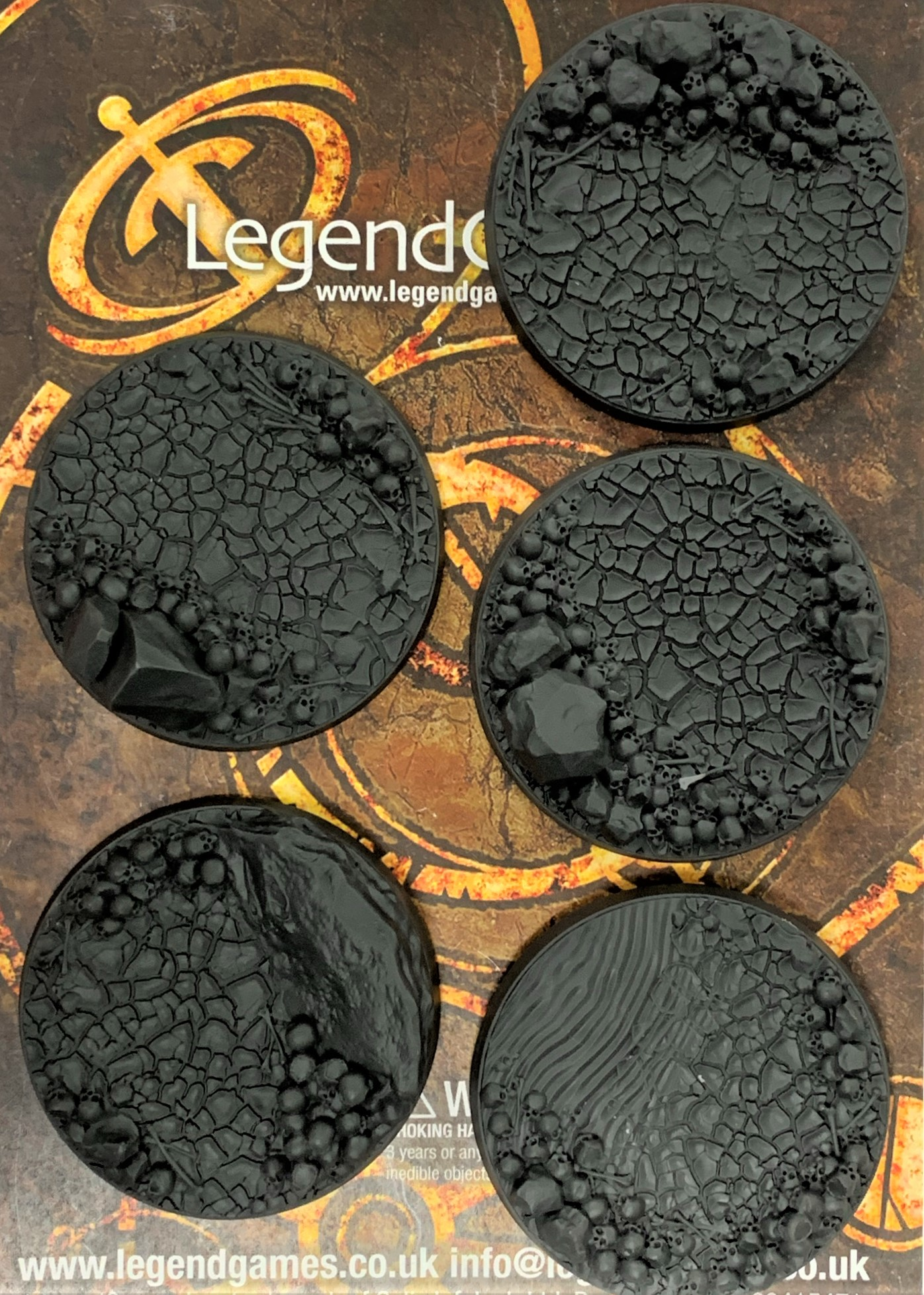 LegendGames 60mm skull bases x5