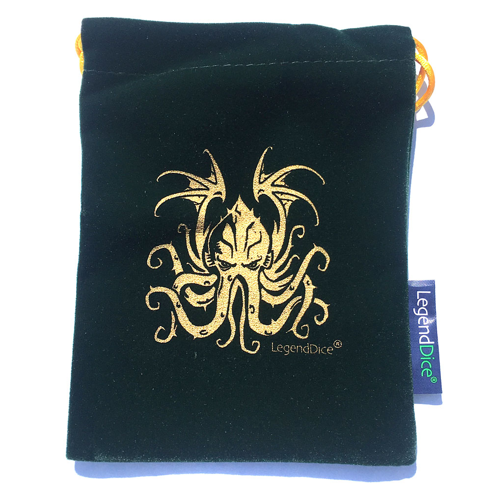 Green Cthulhu Dice Bag -  Trade Dice