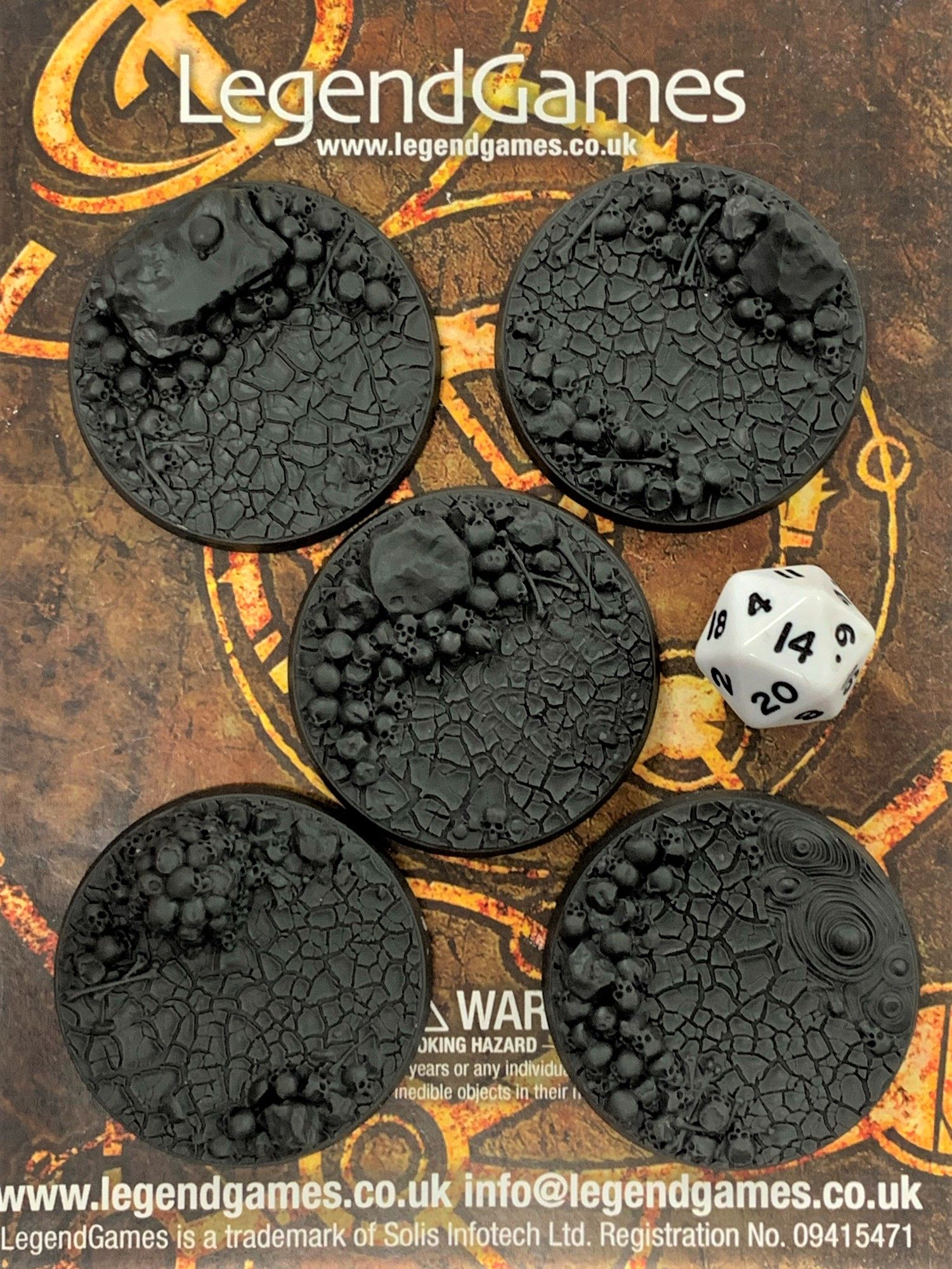 LegendGames 50mm skull bases x5