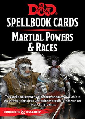 DnD Martial Powers and Races Spellbook Cards -  Gale Force 9